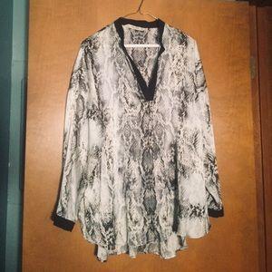 Zara basic snakeskin blouse